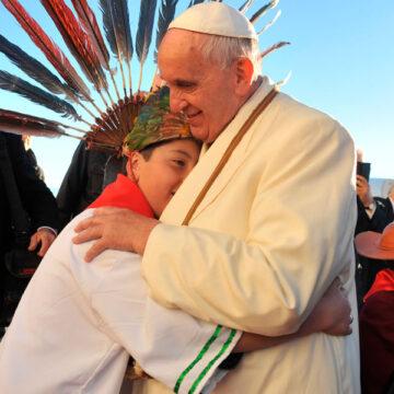 El papa Francisco, en su viaje a Bolivia en julio de 2015