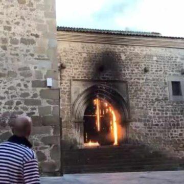 Incendio iglesia Plasencia