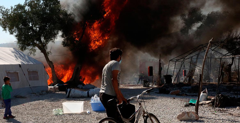 Moria Lesbos refugiados
