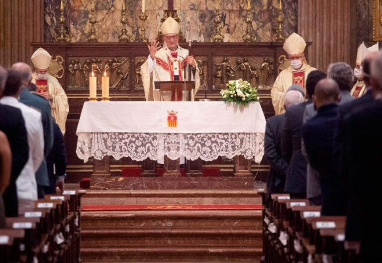 El cardenal Juan José Omella, en la misa de la Mercè