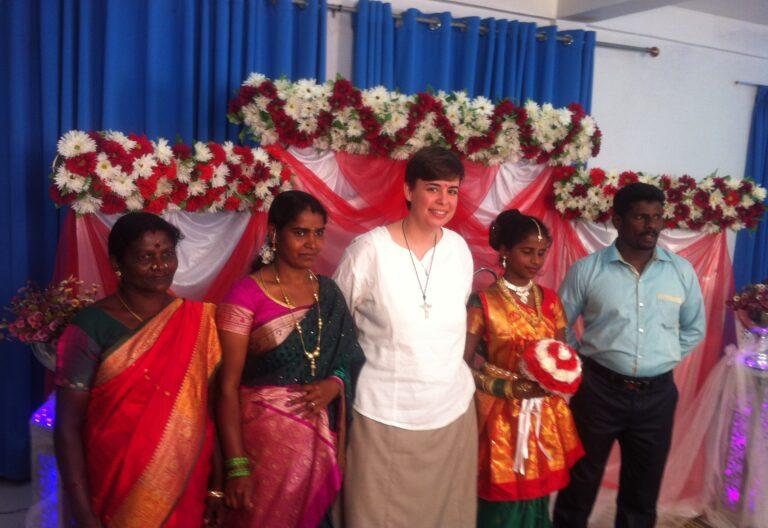 Beatriz Galán, misionera en Sri Lanka