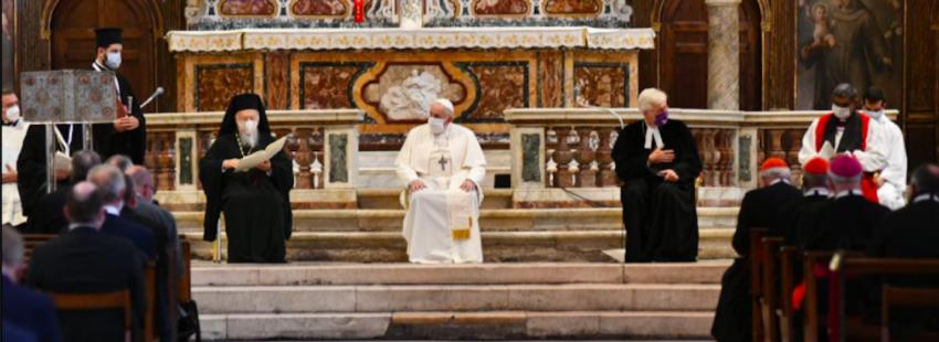 El acto ecuménico de los cristianos en Aracoeli