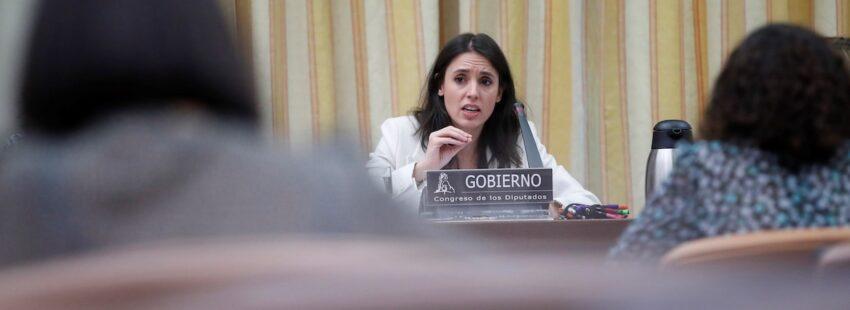 Irene Montero comparece ante la ComisiÛn de Igualdad del Congreso