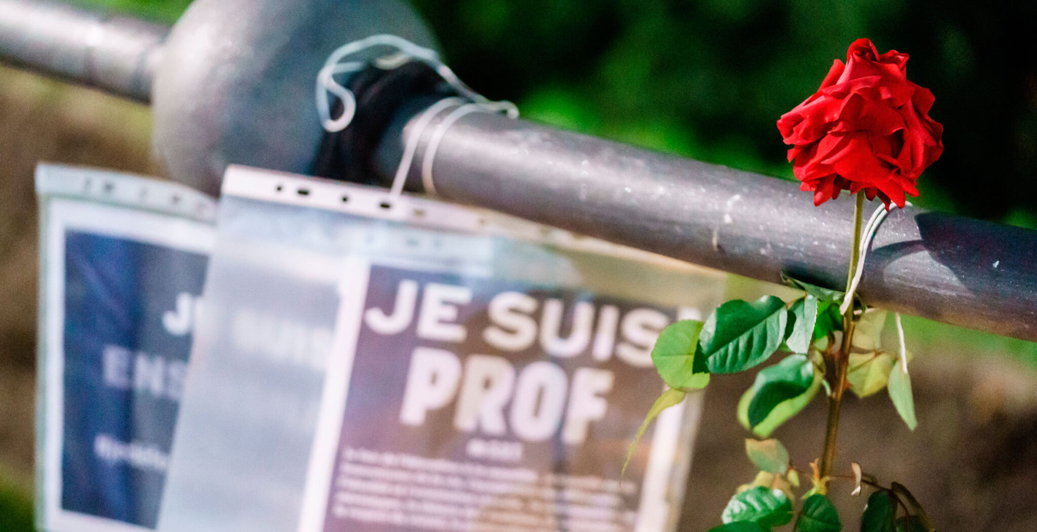 Homenaje al profesor decapitado en Francia