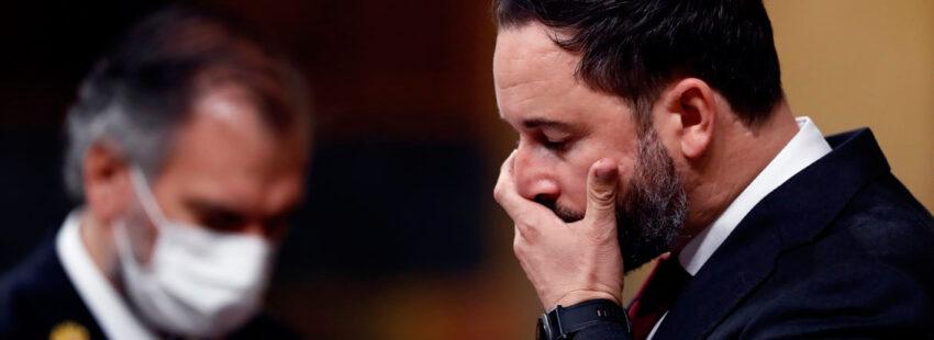 Santiago Abascal en la moción de censura al Gobierno en el Congreso de los Diputados