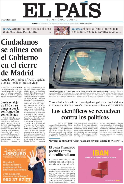El País el día después de Fratelli Tutti