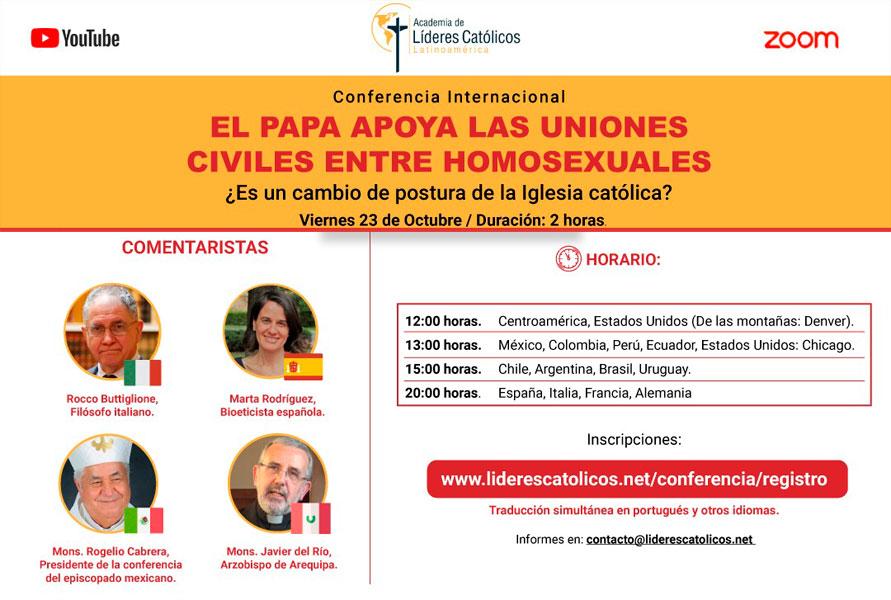 Conferencia Academia Líderes Católicos papa Francisco uniones homosexuales