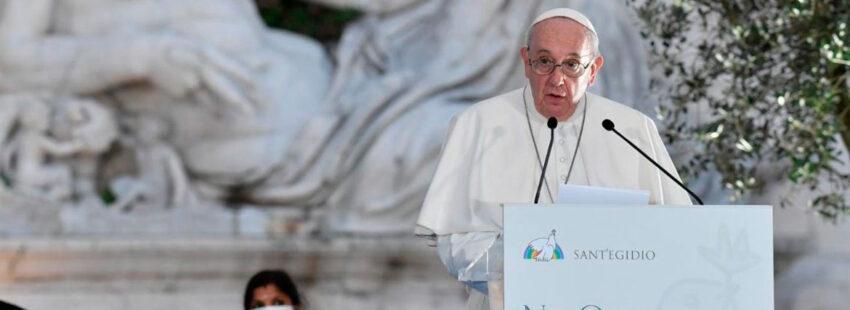 Papa Francisco en el Encuentro de Oración por la Paz de Sant'Egidio