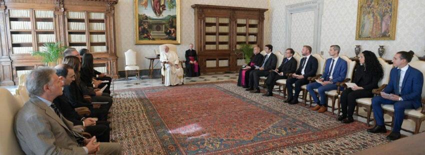 El papa Francisco en audiencia con el Moneyval