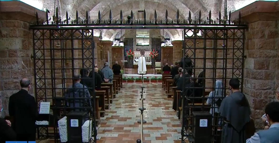 El Papa Francisco, en la misa celebrada en Asís antes de firmar su encíclica