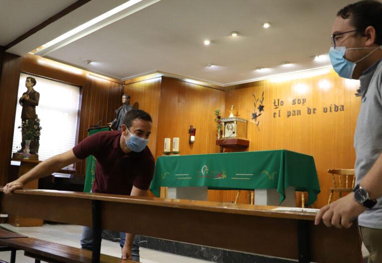 capilla convertida en aula por coronavirus