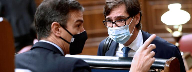 Pedro Sánchez y Salvador Illa en el Congreso de los Diputados