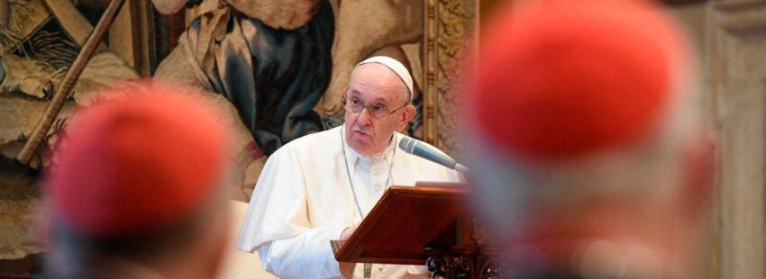 El papa Francisco en su mensaje de Navidad a la curia romana