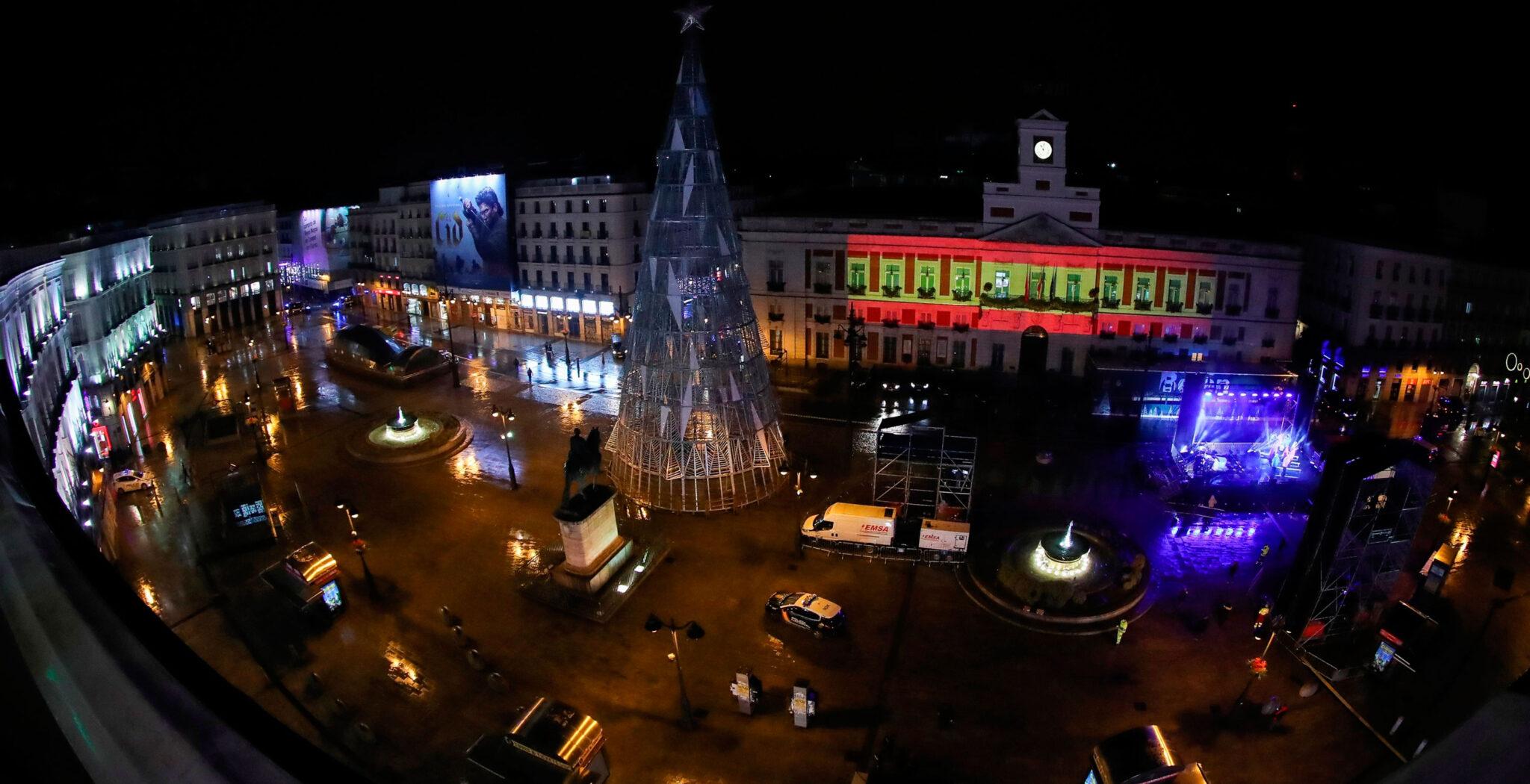 Puerta del sol. Nochevieja desierta. Nacho Cano