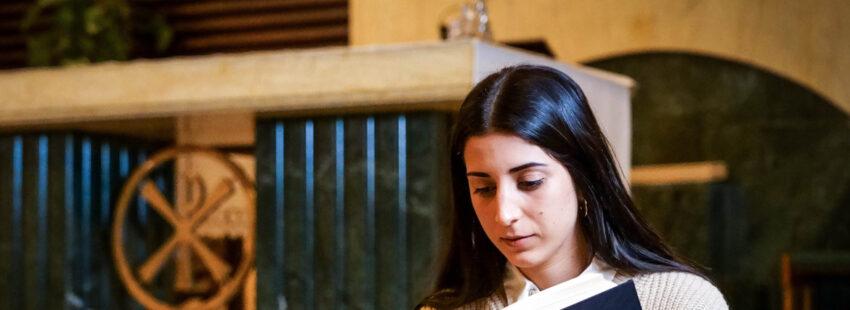 Paula Vega, joven laica de Málaga