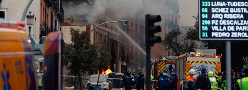 Explosión parroquia Madrid La Paloma Calle Toledo