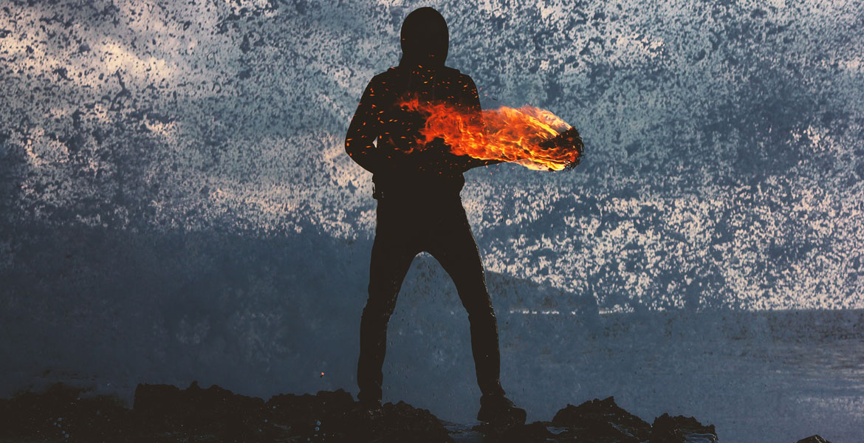 hombre fuego