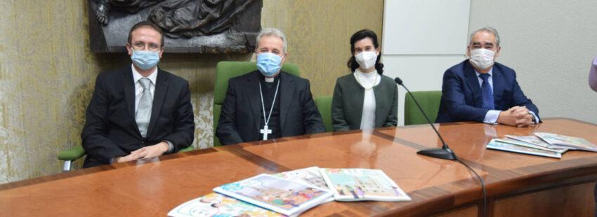 Mario Iceta, arzobispo de Burgos, presenta los materiales pedagógicos sobre el 800 aniversario de la catedral