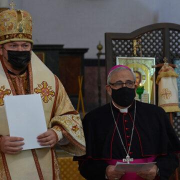 Javier Martínez, arzobispo de Granada, con el arzobispo de la Iglesia Ortodoxa Rusa en España y Portugal, Néstor