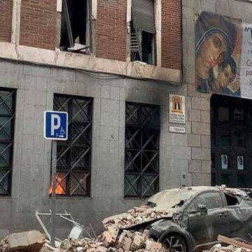 Explosión parroquia de la Paloma en Madrid Calle Toledo