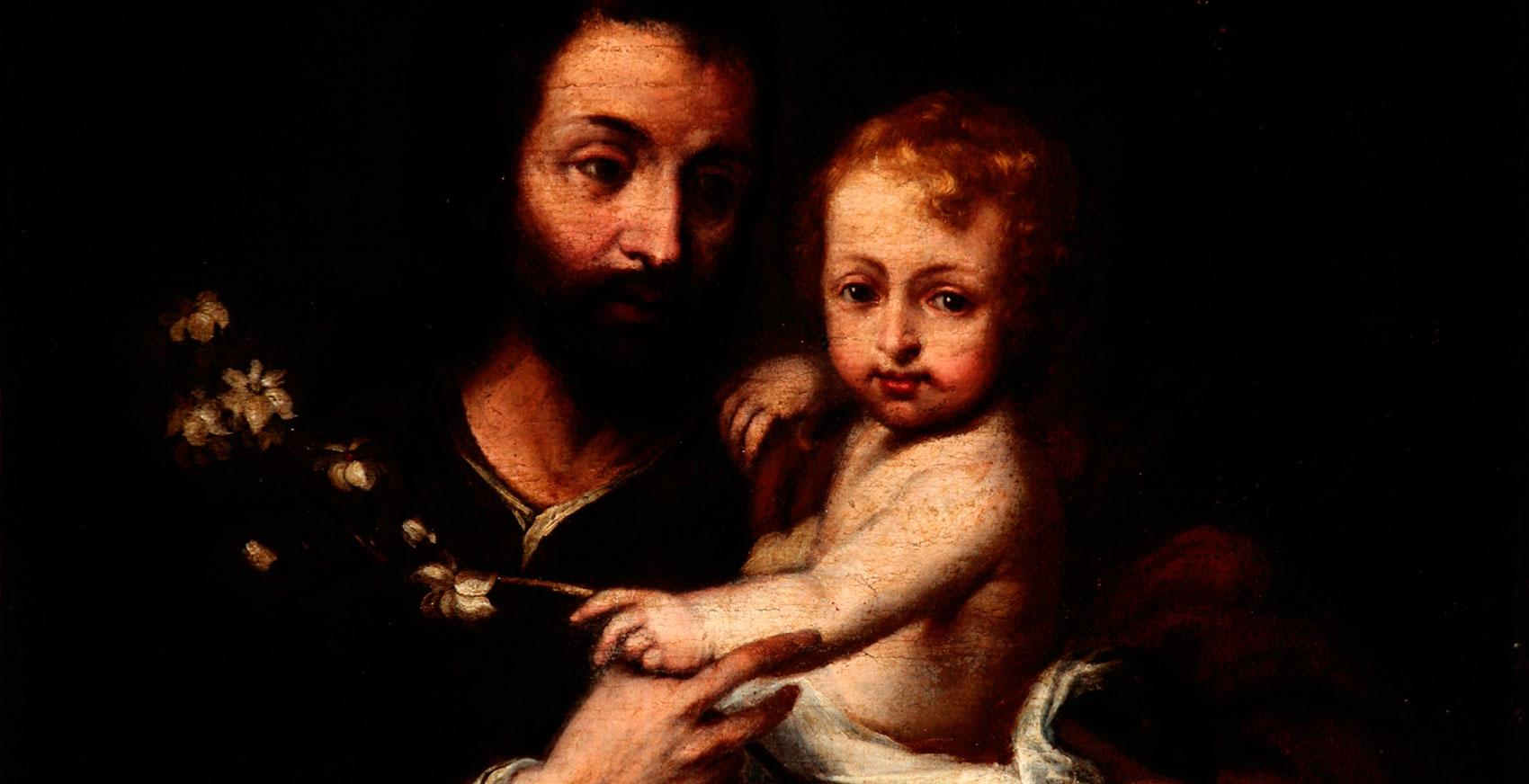 San José y el niño. Taller de Murillo