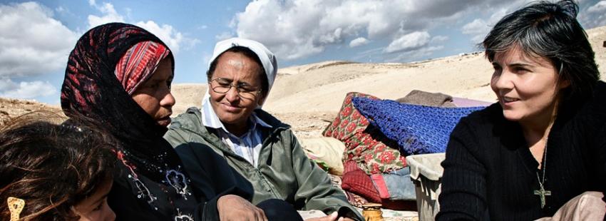 Alicia Vacas, misionera comboniana en Tierra Santa