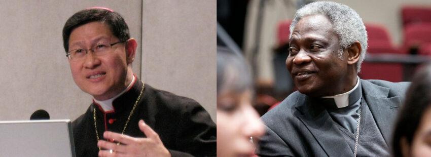 Cardenal Luis Antonio Tagle y el cardenal Peter Turkson