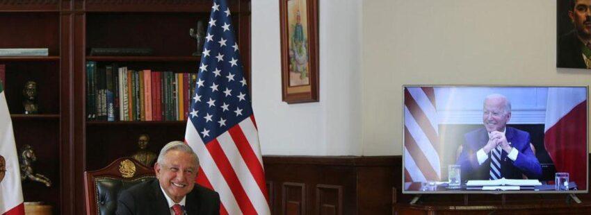 Andrés López y Joe Biden