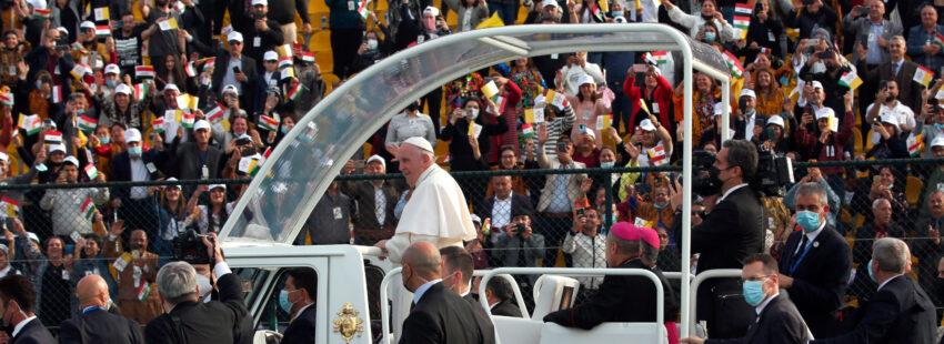 El papa Francisco en la última misa en Irak Erbil
