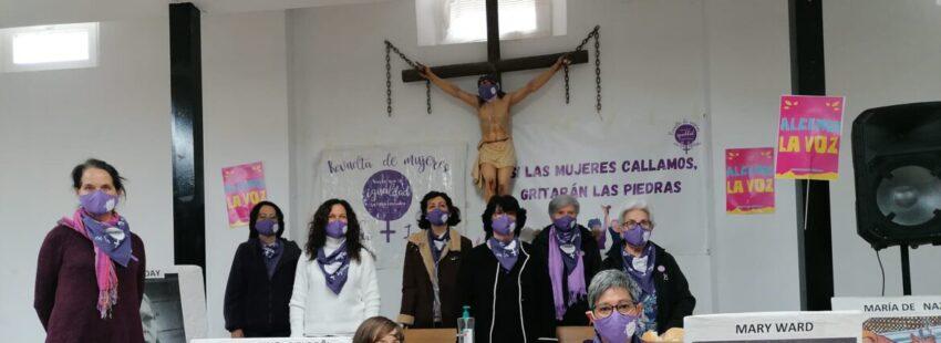 Rueda de prensa de la Revuelta de Mujeres en la Iglesia