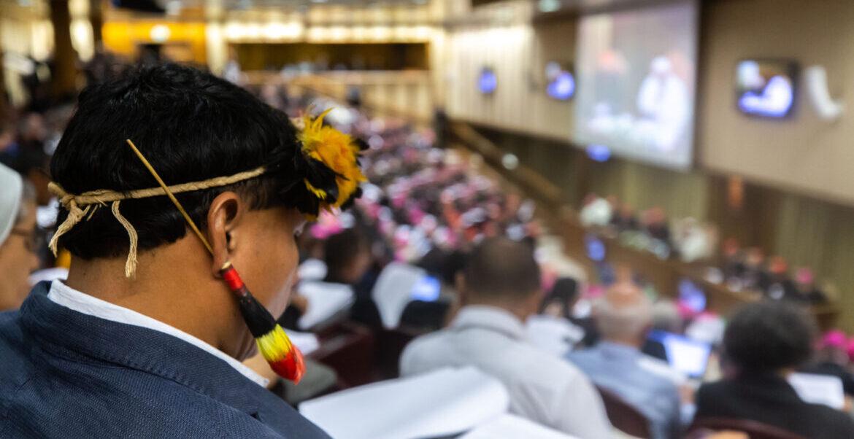 Aula sinodal durante el Sínodo de la Amazonía