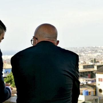 Angola. Sánchez con salesiano