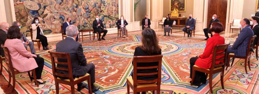 Cáritas, junto a las entidades del Tercer Sector, en una audiencia con el Rey Felipe VI en Zarzuela