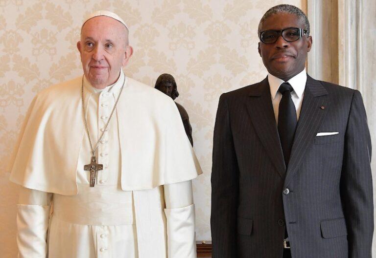 Visita Obiang Papa Francisco