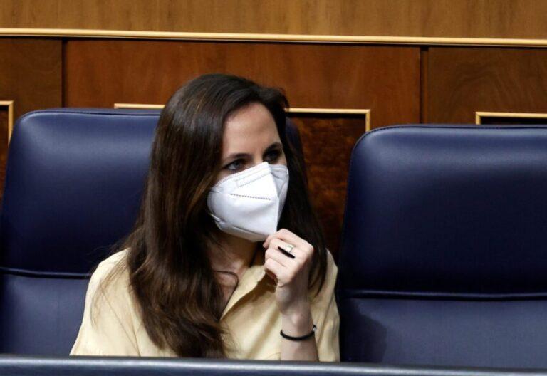 La ministra de Derechos Sociales, Ione Belarra, en el Congreso de los Diputados