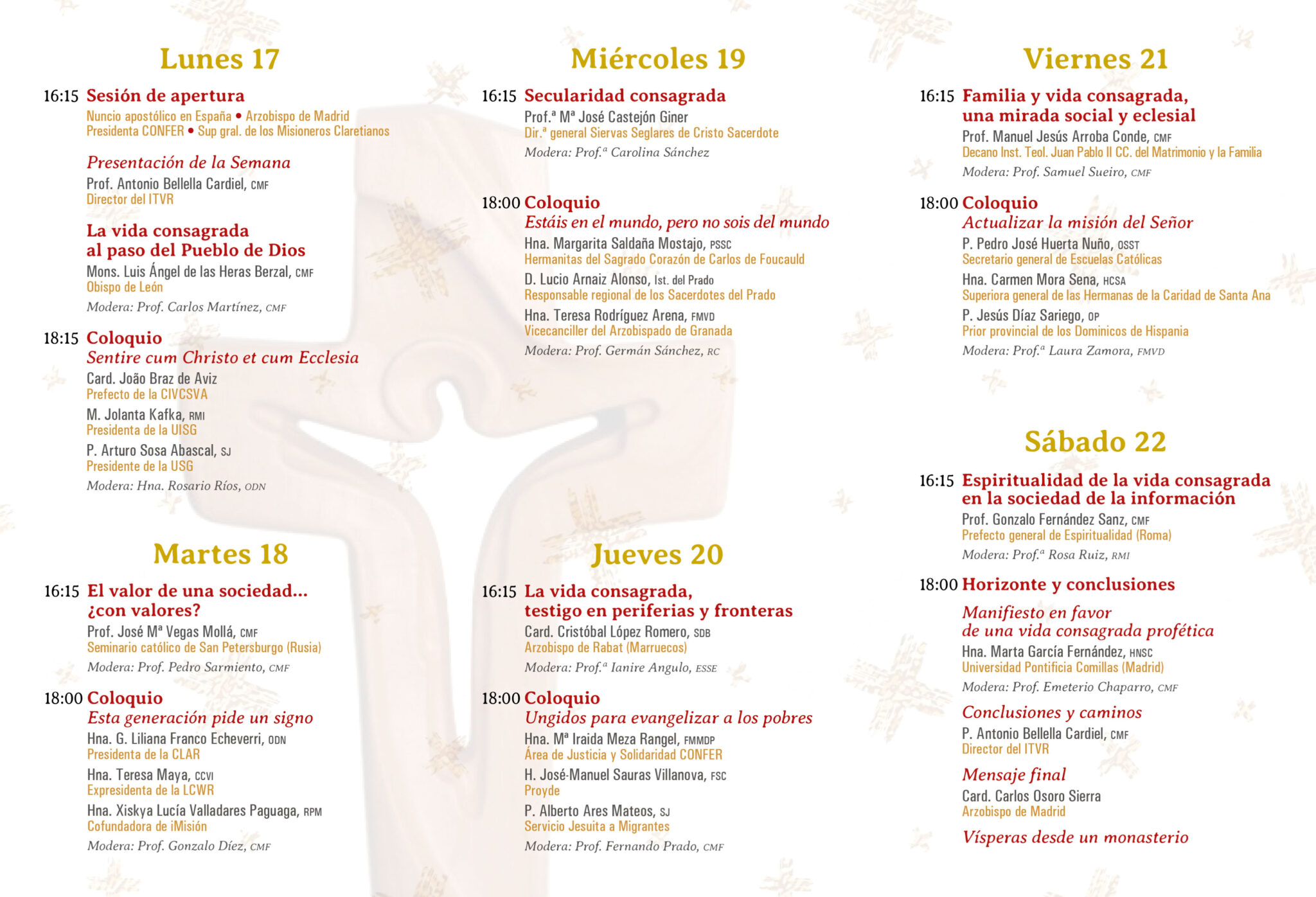 50 Semana Nacional de Vida Consagrada