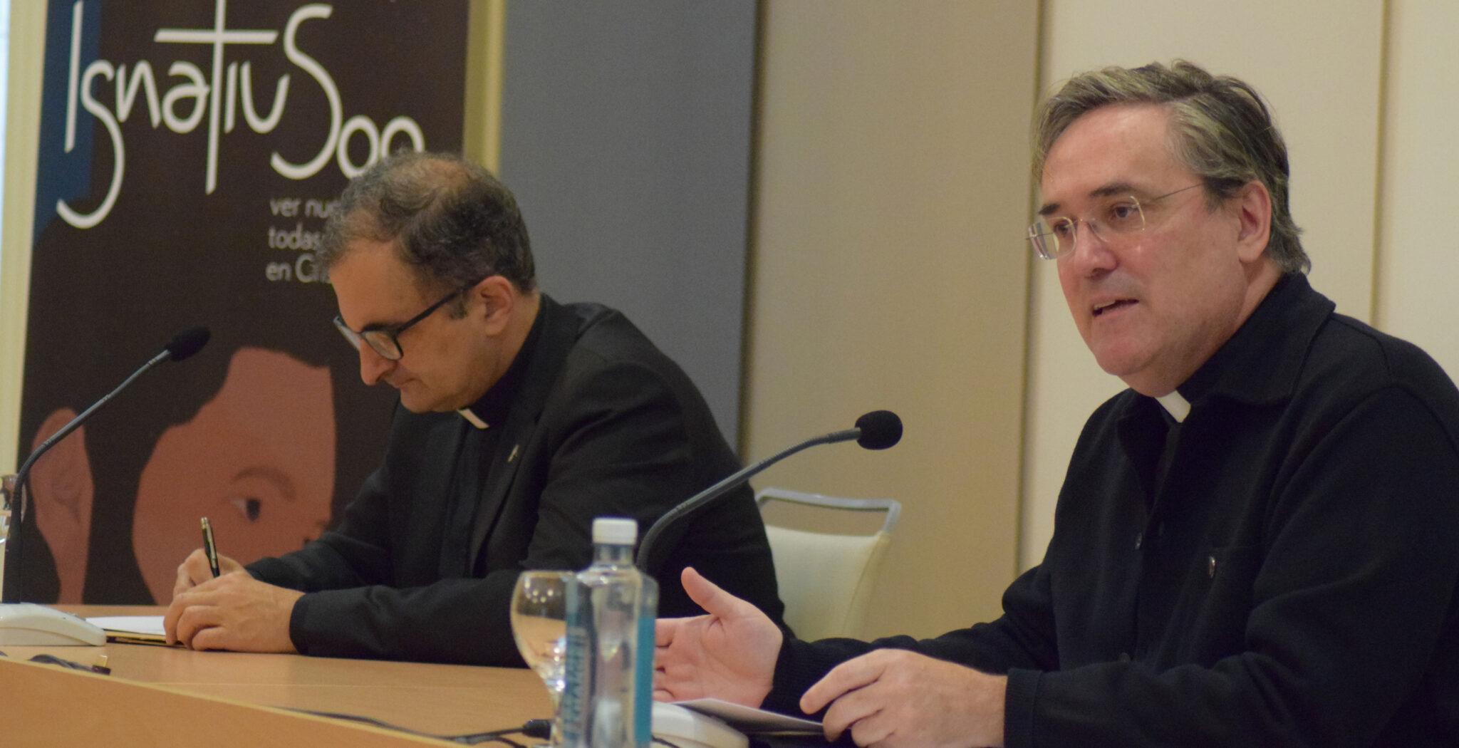 Antonio España, superior provincial Jesuitas España, y Abel Toraño SJ