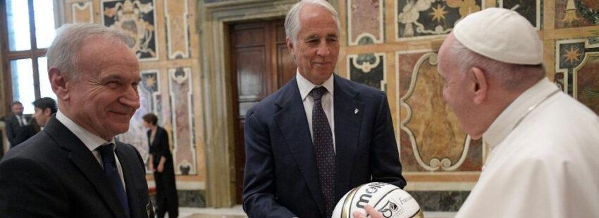 El Papa recibe a la Federación Italiana de Voleibol