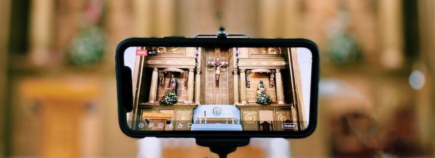 parroquia vista en móvil