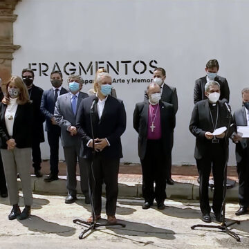 Líderes religiosos incluido el Episcopado se reúnen con Ivan Duque