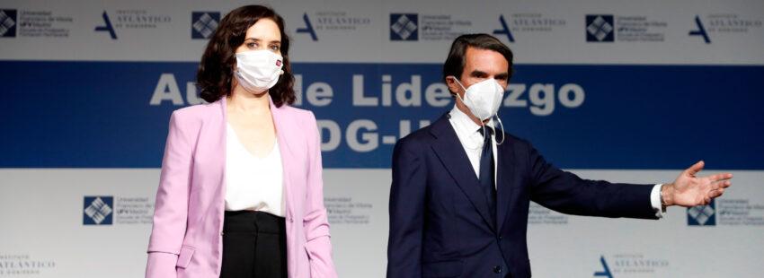 José María Aznar con Isabel Díaz Ayuso