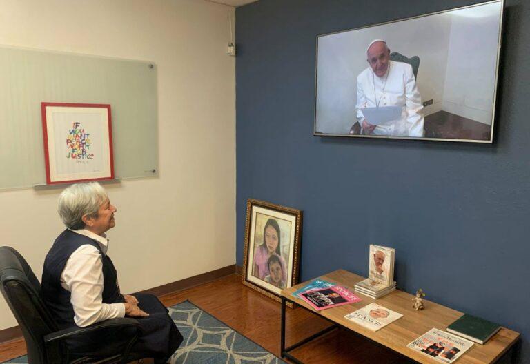 Norma Pîmentel y el Papa
