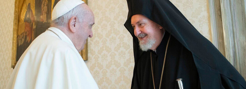 El papa Francisco con ortodoxos del patriarcado de Constantinopla