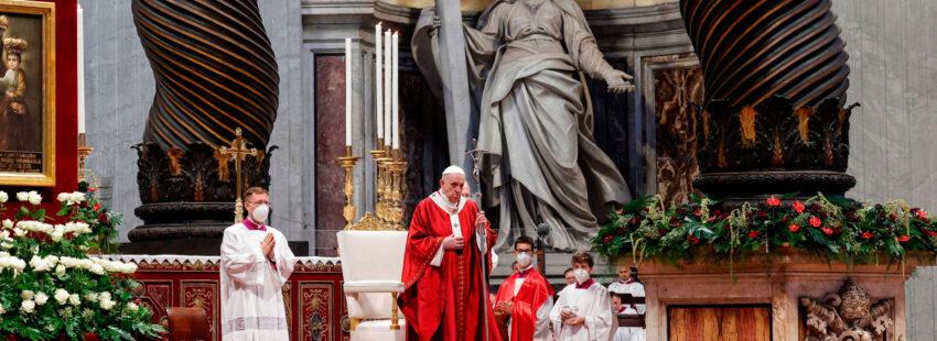El papa Francisco, en la celebración de San Pedro y San Pablo