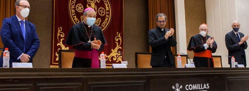 toma posesión Enrique Sanz rector Comillas