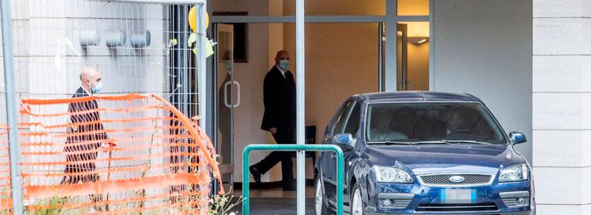 El papa Francisco, a su salida del hospital Gemelli