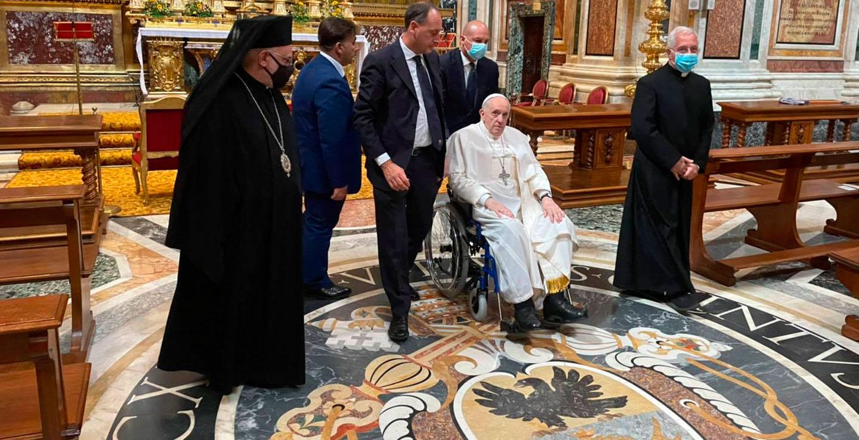 Papa Francisco en Santa Maria Maggiore