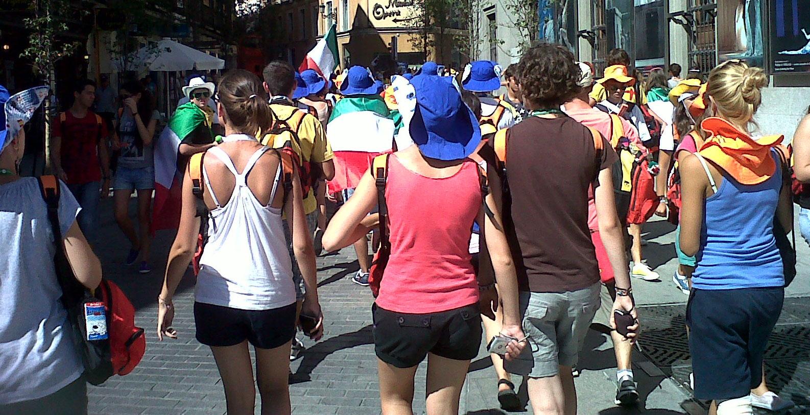 JMJ Madrid 2011 (Jóvenes por la calles)