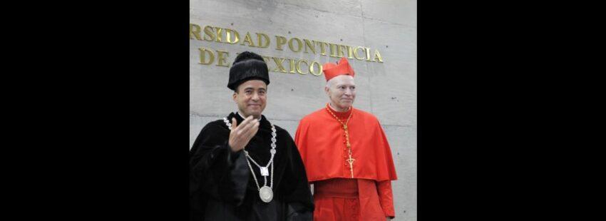 Rector Universidad Pontificia de México y Carlos Aguiar