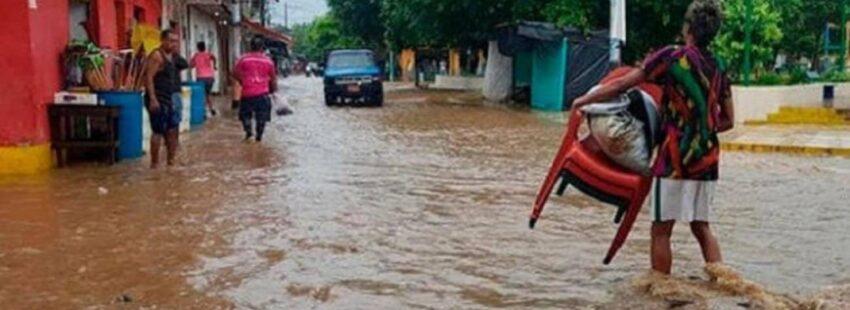 Fuertes lluvias han arrasado en Colombia y en Venezuela